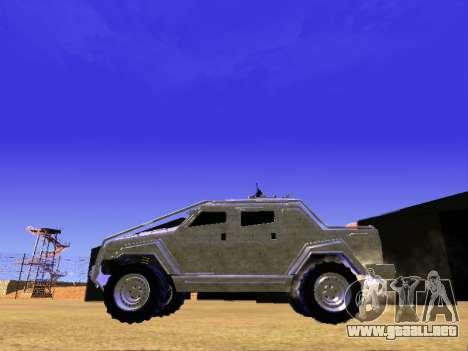 HVY Insurgentes de Recogida para GTA San Andreas vista hacia atrás