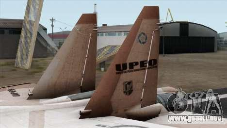 SU-37 UPEO para GTA San Andreas vista posterior izquierda