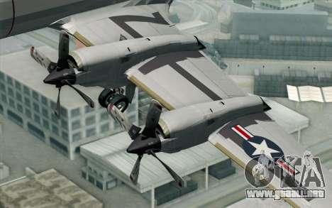 Lockheed P-3 Orion VP-11 US Navy para la visión correcta GTA San Andreas