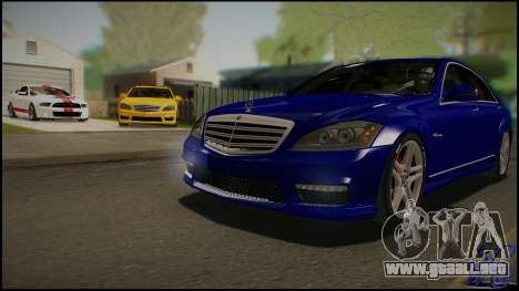 Mercedes-Benz S65 AMG 2012 Road version para visión interna GTA San Andreas