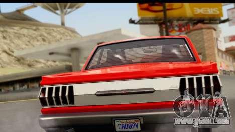 GTA 5 Vapid Blade v2 para la visión correcta GTA San Andreas