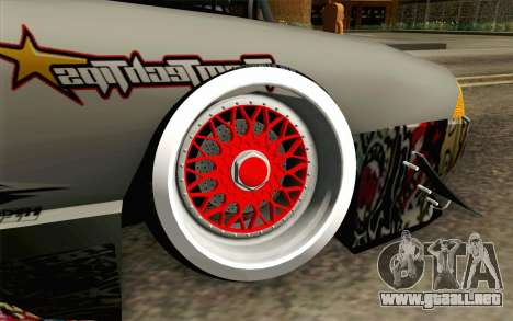 Elegy Modification para GTA San Andreas vista posterior izquierda
