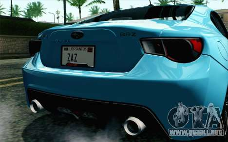 Subaru BRZ 2012 para la visión correcta GTA San Andreas