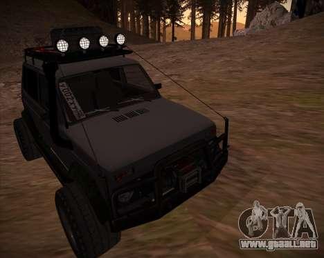 VAZ 2131 Niva 5D OffRoad para vista inferior GTA San Andreas