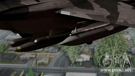 F-15E Yellow Squadron para la visión correcta GTA San Andreas