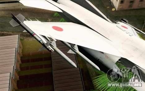 Mitsubishi F-2 Original JASDF Skin para la visión correcta GTA San Andreas