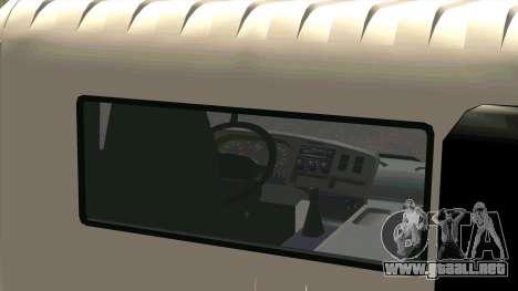 Mitsubishi Fuso Super Great FP-R para GTA San Andreas vista hacia atrás