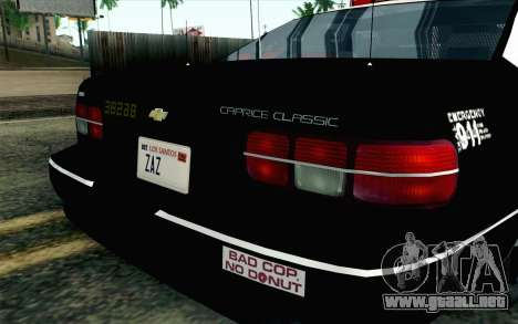 Chevy Caprice SAHP SAPD Highway Patrol v1 para GTA San Andreas vista hacia atrás