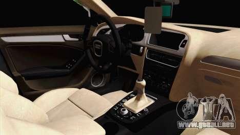 Audi S4 Sedan 2010 para la visión correcta GTA San Andreas