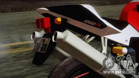 Honda RVT1000R (RC51) IVF para GTA San Andreas vista hacia atrás