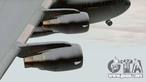 C-17A Globemaster III USAF March para la visión correcta GTA San Andreas