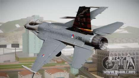 F-16 Fighting Falcon 50th Anniv. of Squadron 313 para GTA San Andreas left