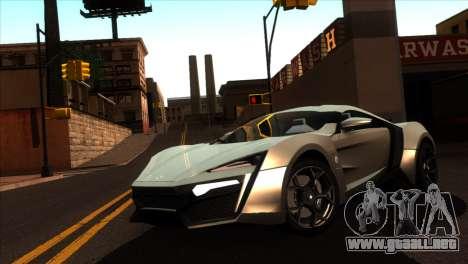 ENBSeries para PC débil v5 para GTA San Andreas tercera pantalla