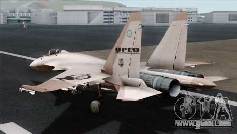 SU-37 UPEO para GTA San Andreas left
