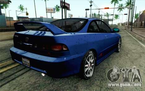 Honda Integra Type R 2000 Stock para GTA San Andreas left
