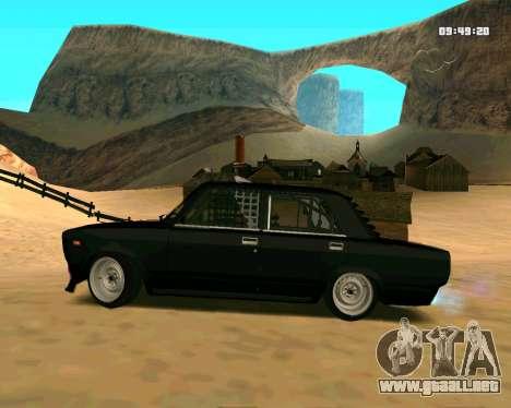 VAZ 2107 CALAMBRES para GTA San Andreas left