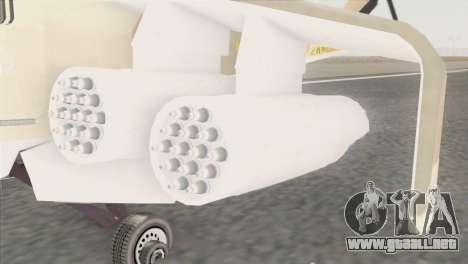 Savage GTA 5 para GTA San Andreas vista posterior izquierda