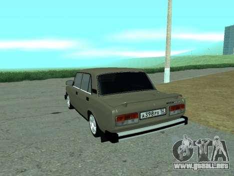 VAZ 2105 Lada para GTA San Andreas vista posterior izquierda