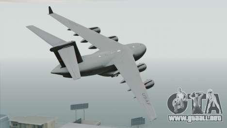 C-17A Globemaster III USAF March para GTA San Andreas left