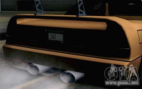Infernus Edicte v2 para GTA San Andreas vista hacia atrás