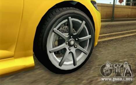 GTA V Dinka Blista IVF para GTA San Andreas vista posterior izquierda