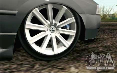Volkswagen Golf GL para GTA San Andreas vista posterior izquierda