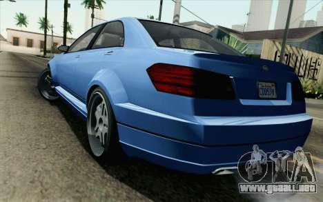 GTA 5 Benefactor Schafter para GTA San Andreas left
