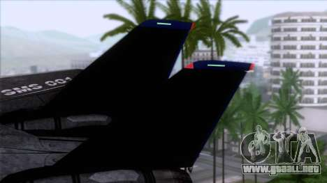 F-14 Neon Blue Macross Frontier para GTA San Andreas vista posterior izquierda