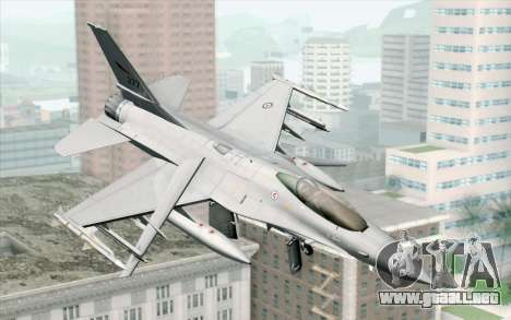 F-16 Fighting Falcon RNoAF PJ para GTA San Andreas