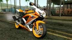 Suzuki GSX-R 600 2015 Orange para GTA San Andreas