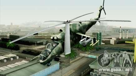 Mi-24D Polish Air Force para GTA San Andreas