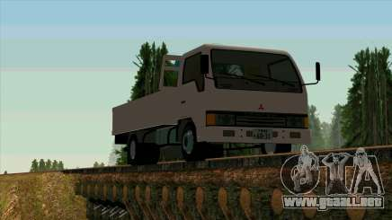 Mitsubishi Fuso Canter 1989 With Crane para GTA San Andreas
