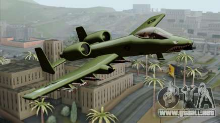 A-10 Warthog Shark Attack para GTA San Andreas