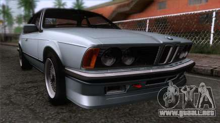 BMW M635 CSi 1984 Stock para GTA San Andreas
