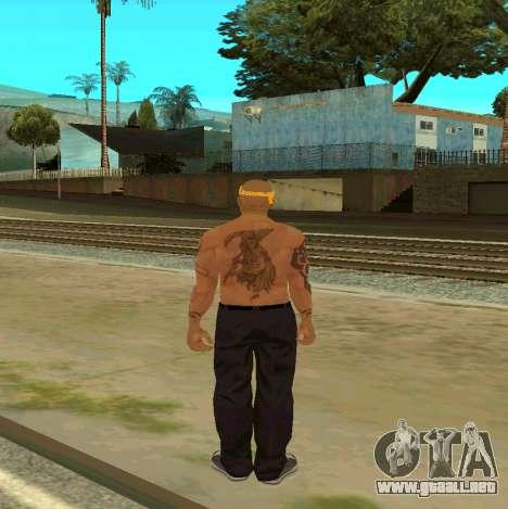 Macheter Vagos para GTA San Andreas sucesivamente de pantalla