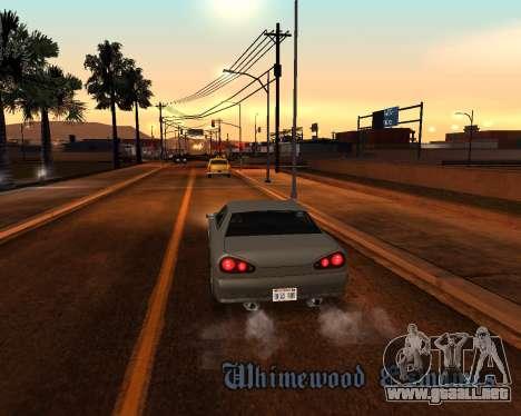 Project 2dfx 2.5 para GTA San Andreas novena de pantalla