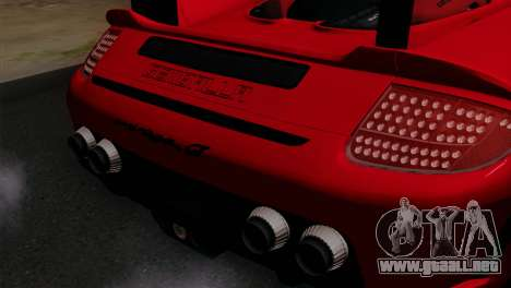 Gemballa Mirage GT v3 Windows Up para GTA San Andreas vista hacia atrás