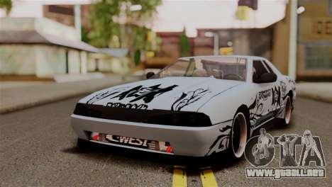 Elegy Full Customizing para GTA San Andreas vista hacia atrás