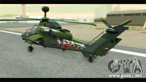 Eurocopter Tiger Polish Air Force para GTA San Andreas left