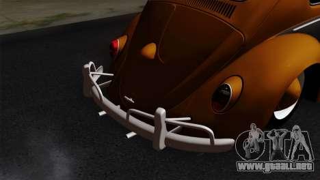 Volkswagen Beetle 1969 para GTA San Andreas vista hacia atrás