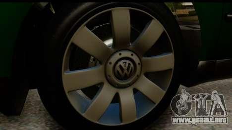 Volkswagen Passat B5 para GTA San Andreas vista hacia atrás