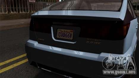 GTA 5 Karin Dilettante SA Mobile para la visión correcta GTA San Andreas