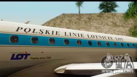 Embraer 175 PLL LOT Retro para visión interna GTA San Andreas