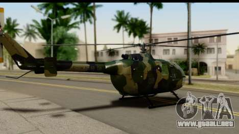 MBB Bo-105 Army para GTA San Andreas left