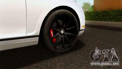 Bentley Continental SS 2010 para GTA San Andreas vista posterior izquierda