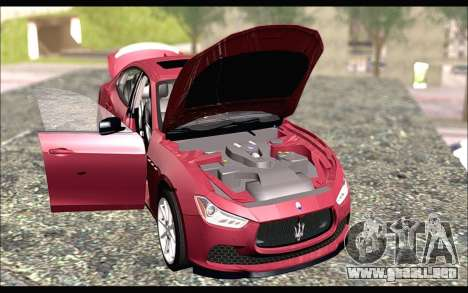 Maserati Ghibli 2014 para la visión correcta GTA San Andreas