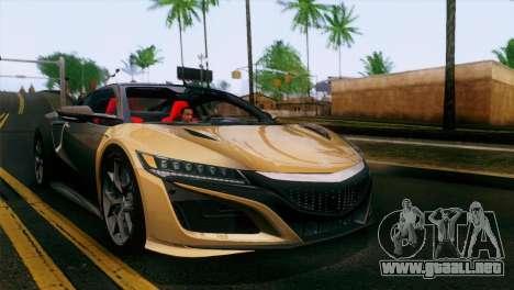 Acura NSX 2016 v1.0 SA Plate para visión interna GTA San Andreas