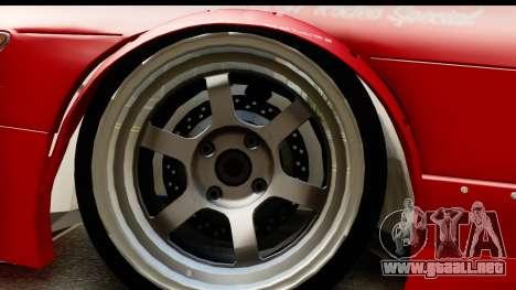 Nissan Silvia S13 Rocket Bunny para GTA San Andreas vista hacia atrás
