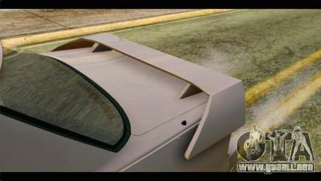 Nissan Silvia para GTA San Andreas vista hacia atrás