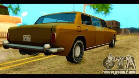 Stafford Limousine para GTA San Andreas left